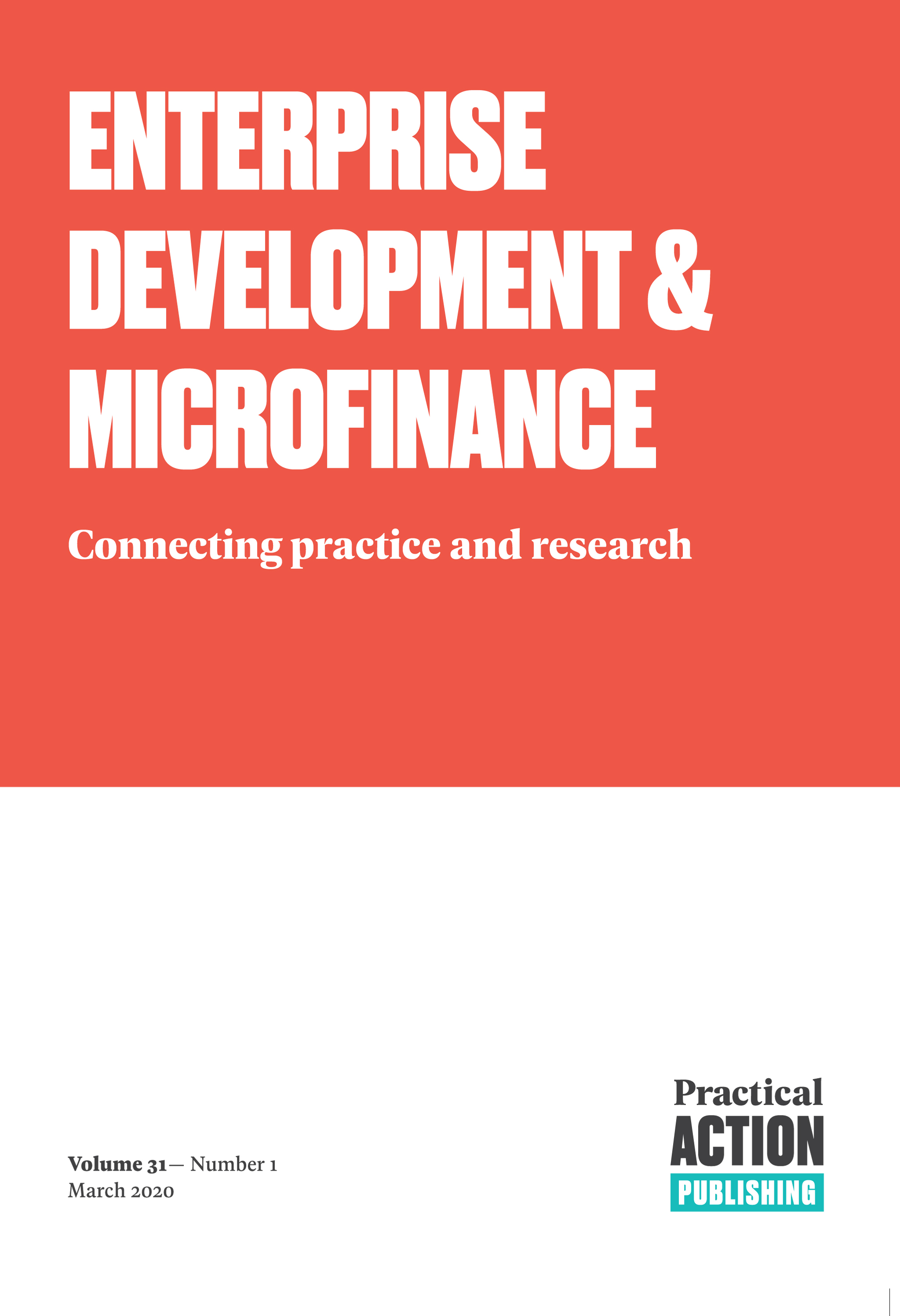 Enterprise Development and Microfinance